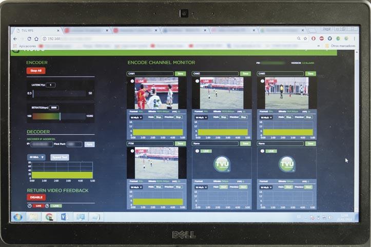 Imagen 1. Captura de pantalla del ordenador de control de transmisión.