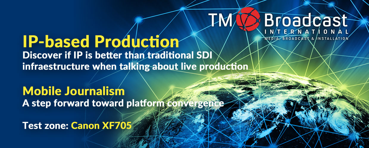 IP based production in TM Broadcast