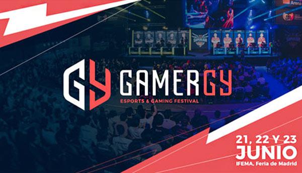 Cartel con las fechas y ubicación de la feria Gamergy 2019