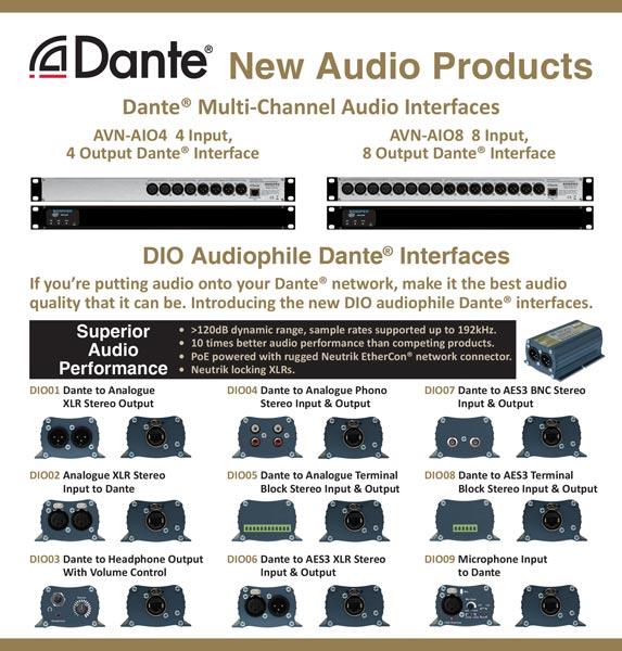 La gama de productos Dante de Sonifex estará presente en la feria ISE 2019