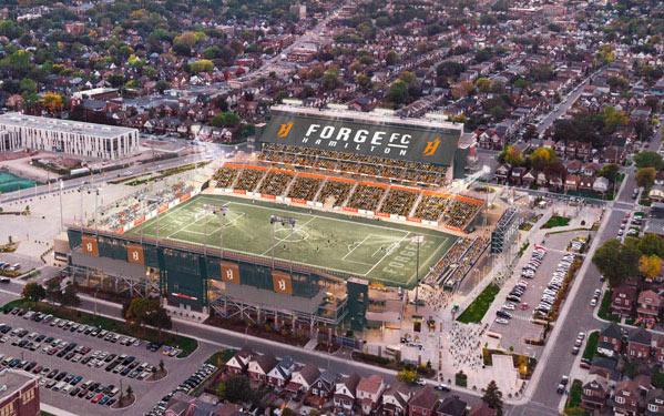 Estadio Tim Horton ubicado en Hamilton (Ontario, Canadá)