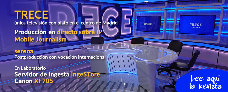 Trece, única televisón con plató en el centro de Madrid