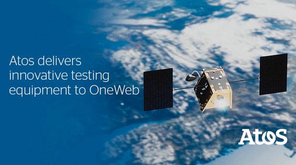 Imagen promocional en la que Atos presenta su colaboración en el proyecto OneWeb