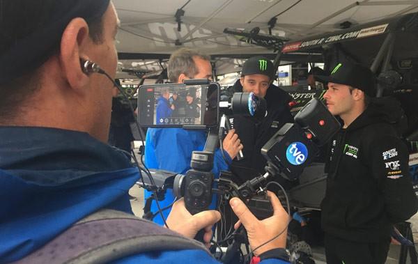 TVU aplica tecnología IP durante una entrevista en el Rally Dakar
