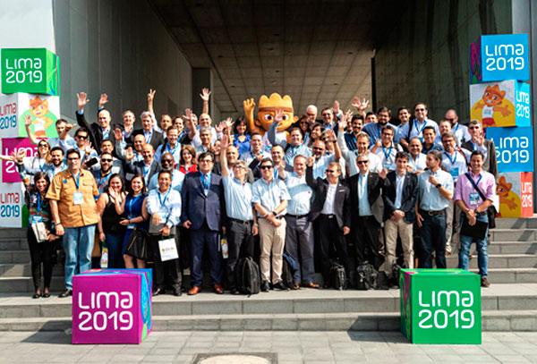 Foto de familia en el World Broadcasters Meeting organizado de cara a la celebración de Lima 2019