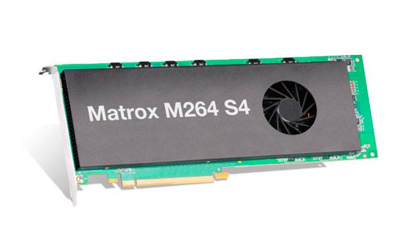 Tarjeta de códec M264 S4 de Matrox capaz de procesar tecnología 4K