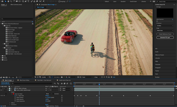 Nueva herramienta Content Aware de After Effects - Antes