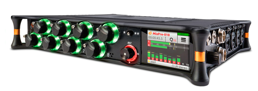 Vista general del MixPre10T Sound Devices
