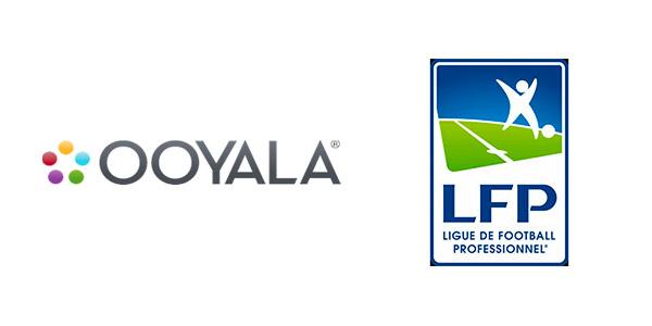Logo de la empresa Ooyala y de la Ligue de Football Professionnel (LFP) de Francia