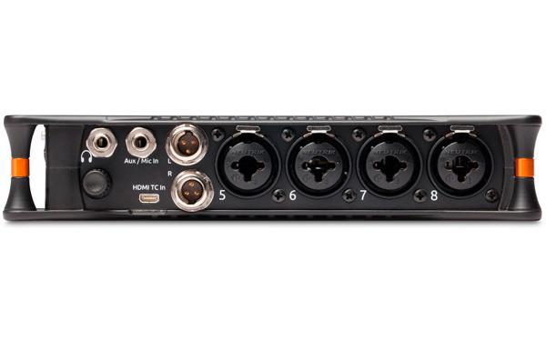 Vista del panel de conexiones del MixPre10T de Sound Devices