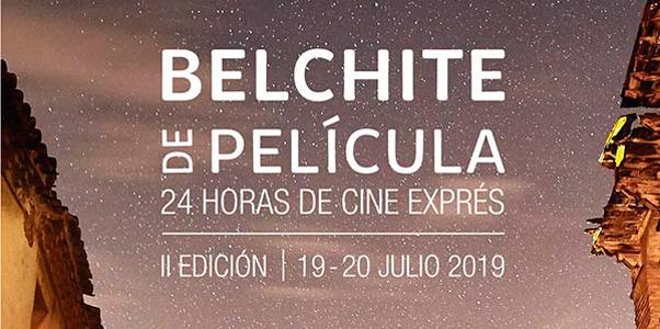 Fragmento del cartel promocional del certamen Belchite de película