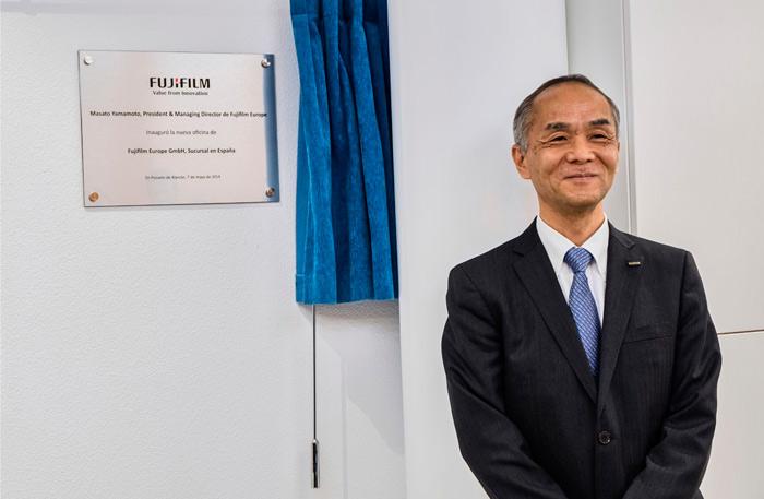 Masato Yamamoto en la inauguración de la sede en Madrid de Fujifilm