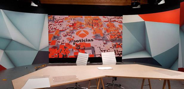 Vista general del videowall de Samsung instalado en el Plato de Atresmedia