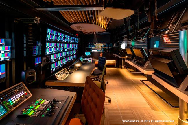 Sala de control en la empresa belga Videohouse