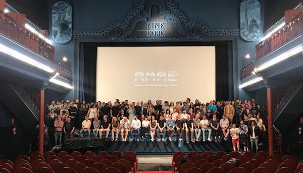 Todas las personas presentes en el acto en los Cines Doré