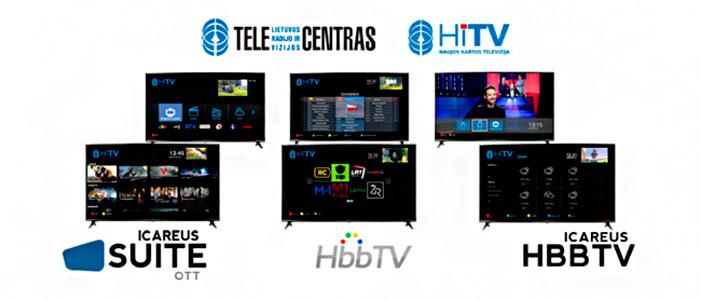 Capturas con diferentes aplicaciones de la plataforma HiTV de Telecentras