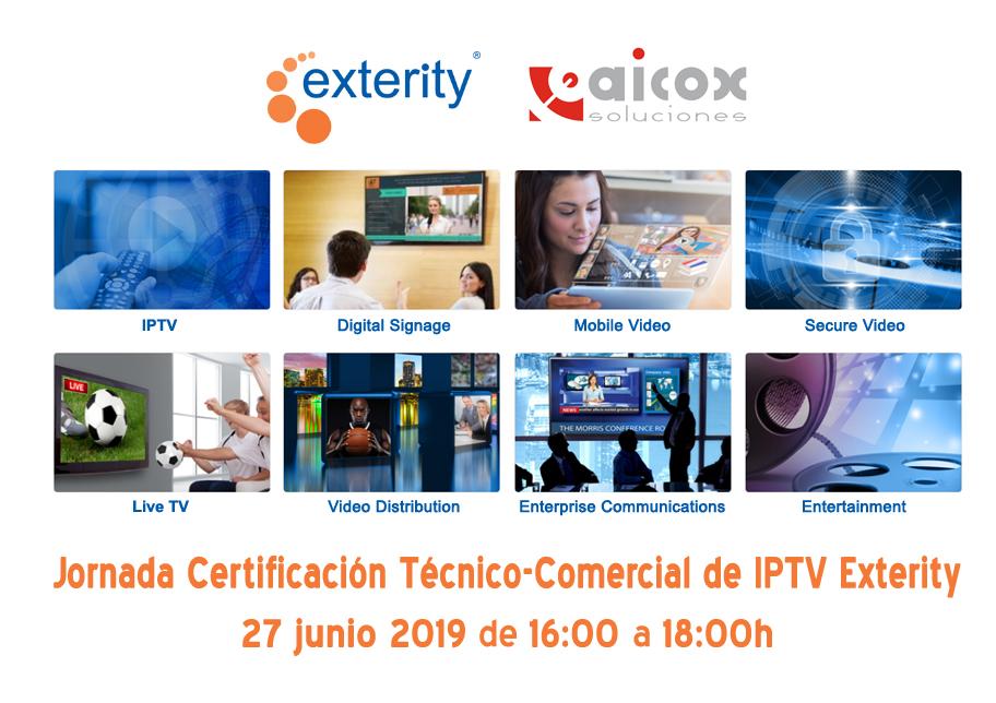 Convocatoria evento Aicox soluciones con Exterity