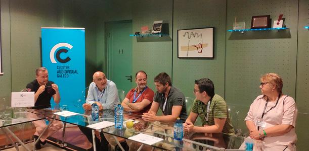 Encuentro impulsado por el Clúster Audiovisual Galego