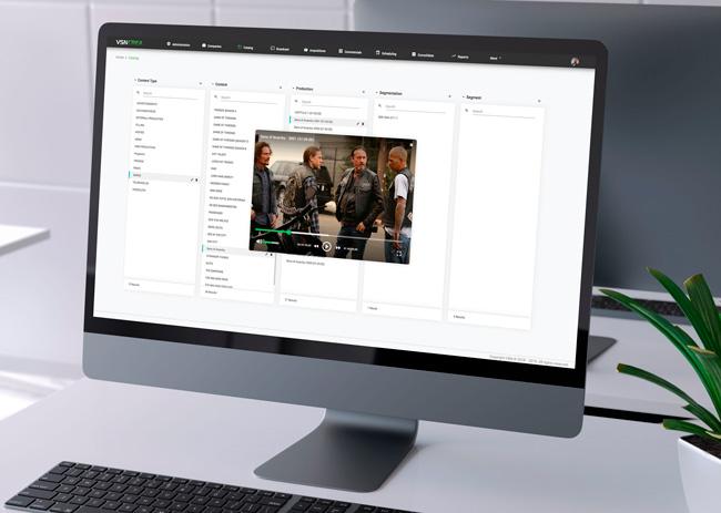 Interfaz de usuario del sistema VSNCrea de VSN que será presentado en la feria IBC 2019