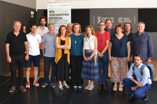 Algunas de las figuras que formaron parte del VII Encuentro Estatal de Asociaciones de Productoras Audiovisuales