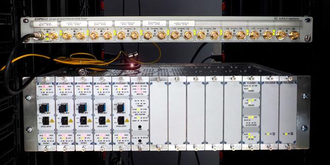 Equipamiento instalado en la televisión colombiana RTVC por Albalá Ingenieros