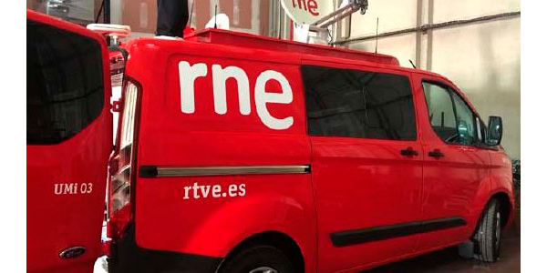 Unidad móvil integrada por VAV Engineering a Radio Nacional de España (RNE)