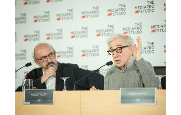 The Mediapro Studio produce la última película de Woody Allen, en la fotografía acompañado de Jaume Roures