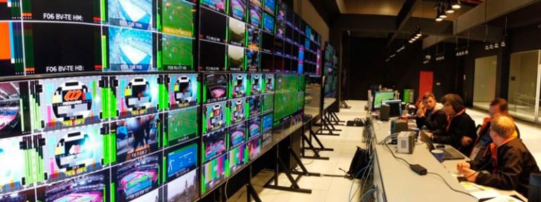 Una de las salas de control desde las que Mediapro ha operado en los Juegos Panamericanos de Lima 2019