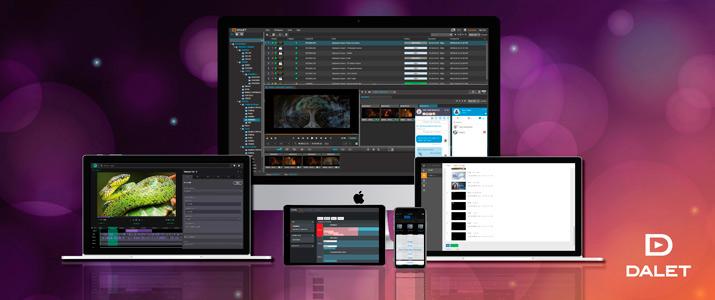 Interfaces de usuario de varios productos que Dalet expondrá en IBC