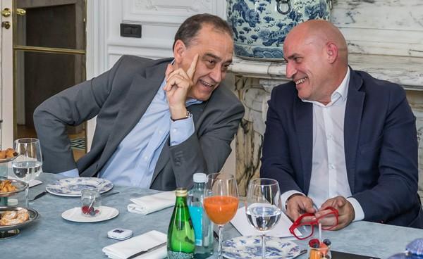 Conversación en el Desayuno TM Broadcast con Adolfo Remacha y Toni Feliu