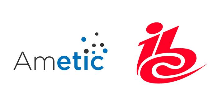Logo de Ametic, patronal, e IBC, feria en la que parte de sus integrantes expondrán