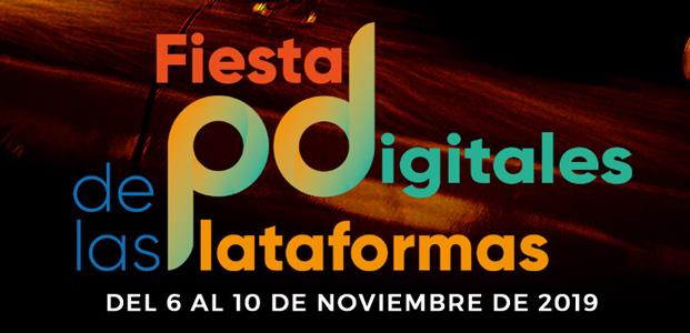 Logotipo de la Fiesta de las Plataformas Digitales con las fechas de su edición 2019