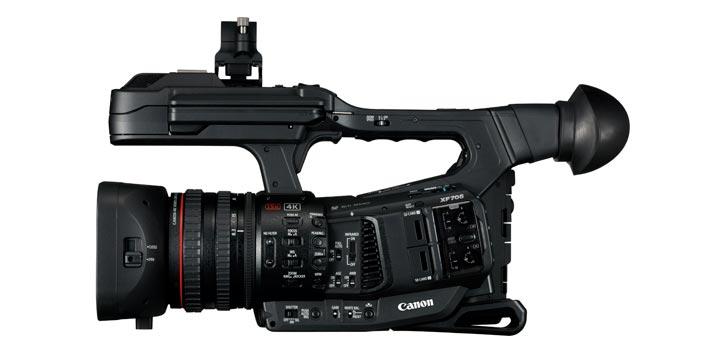 Ajustes y controladores de la Canon XF 705
