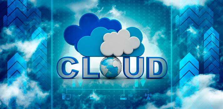 Imagen de stock con elementos de sistemas Cloud