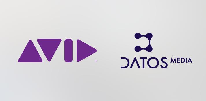Logotipos de Avid y Datos Media, patrocinadores de las jornadas TM Broadcast de BITAM Show 2019