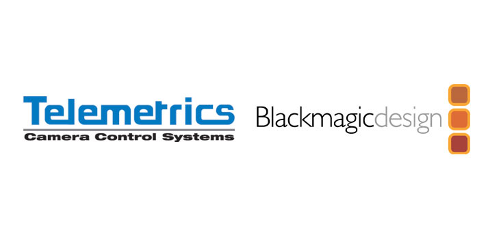 Logotipos de Telemetrics y Blackmagic Design
