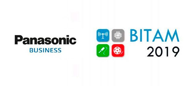 Logo de BITAM Show 2019 y Panasonic Business