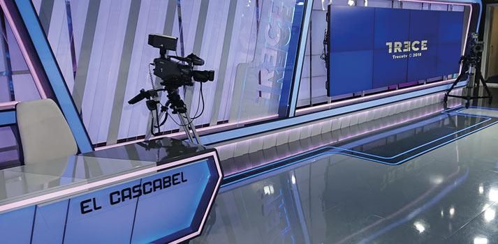 Plató de El Cascabel, formato de 13 TV