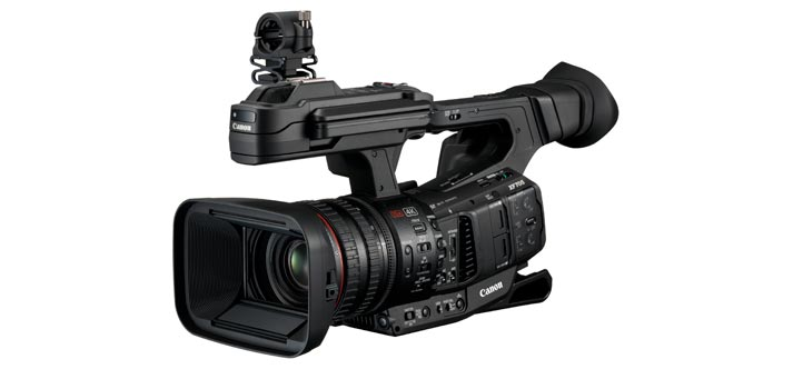Canon XF705 camcorder perspectiva