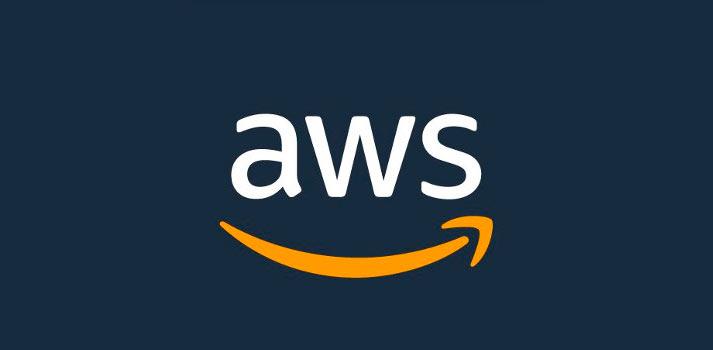 Logotipo de Amazon Web Services con fondo azul