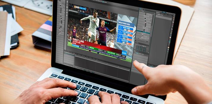 Inserción de gráficos con la plataforma Dalet CubeNG