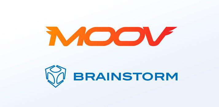 Logotipos de Moov y Brainstorm