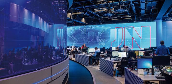 Espacio para los informativos de la televisión Globo