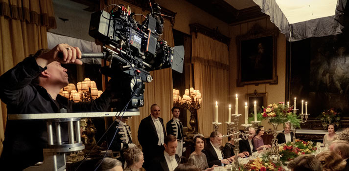 Sistema Venice de Sony empleado en el rodaje de una escena de la adaptación al cine de Downton Abbey
