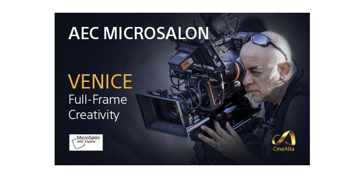 Imagen promocional de Sony para promocionar su participación en el microsalón AEC