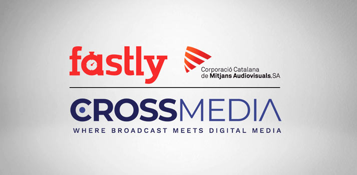 Logotipos de fastly, crossmedia y la corporación catalana de medios audiovisuales
