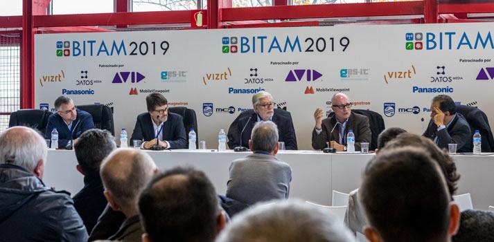 Zona de conferencias TM Broadcast BITAM Show 2019 con OBS, Mediapro, Movistar+, Vizrt...