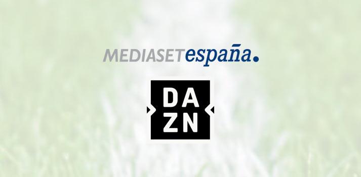 Logotipo de Mediaset España y DAZN