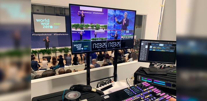 Sala de control desde la cual Mediapro prestó servicios audiovisuales