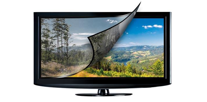 Televisión simulando la tecnología HLG